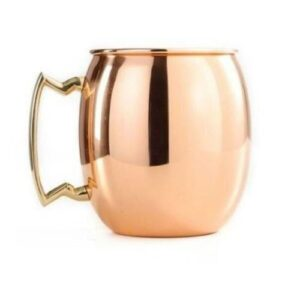 Nitid Plain Pure Copper Mugs with Brass Handles