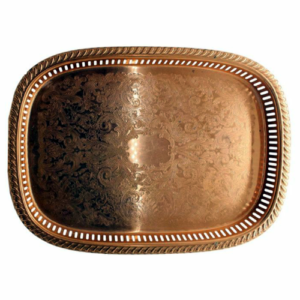 Embossed Pure Copper Tray