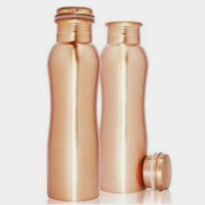 Curved Easy to Grip Pure Copper Bottle